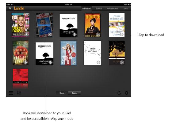 Download Kindle books to iPad