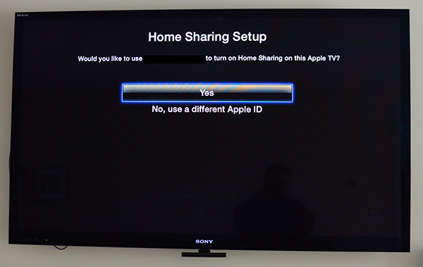 Home Sharing Apple TV