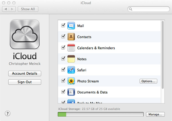 iCloud on Mac sync bookmarks