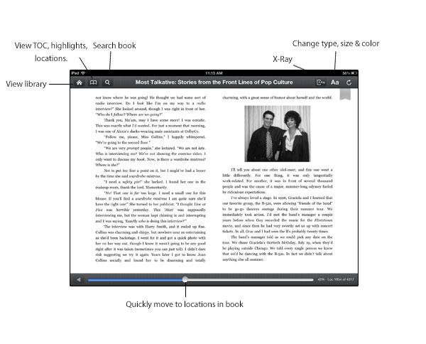 Kindle interface