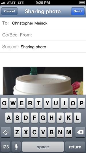 sharing photo email