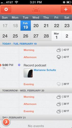 Sunrise UI design