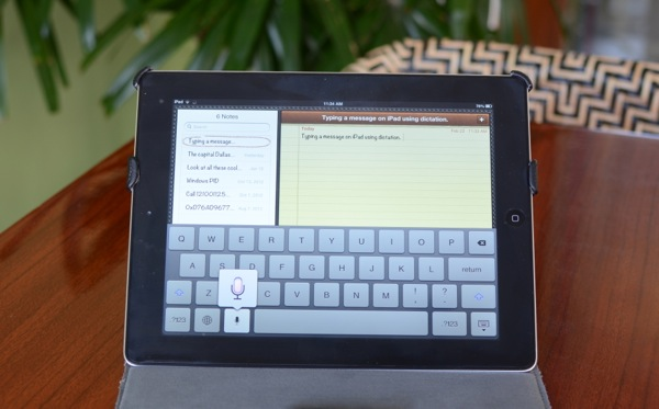 How to use dictation on iPad