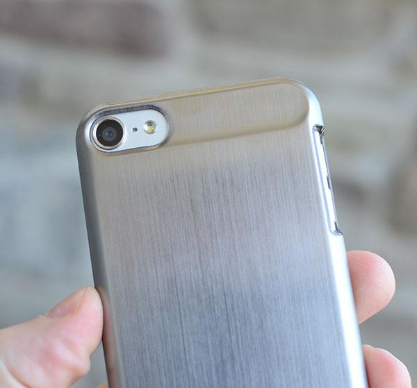 Brushed aluminum case