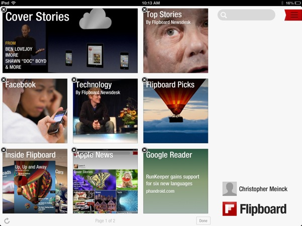 Customize Flipboard