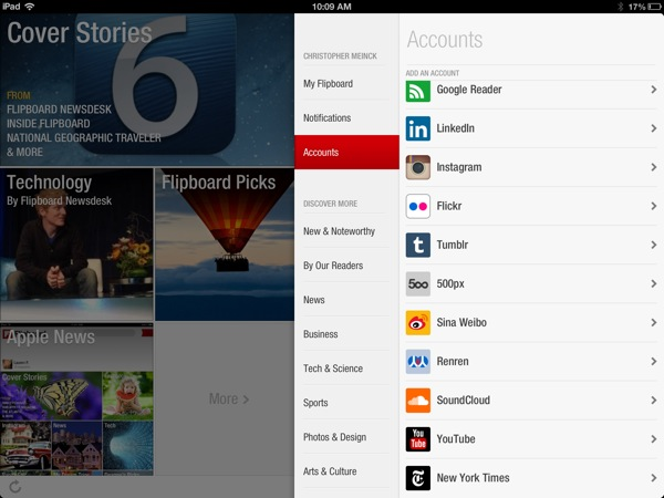 Flipboard accounts