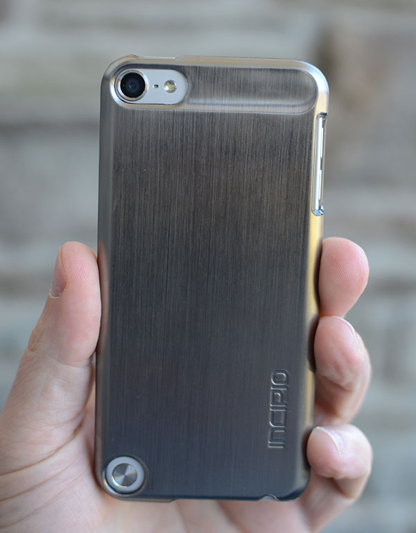 back of incipio feather shine case