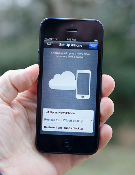 restore iPhone from iCloud