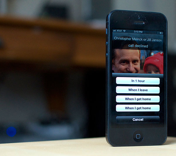set up call reminders on iPhone