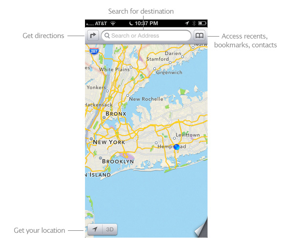Turn by turn maps on iPhone