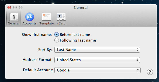 Google sync contacts mac