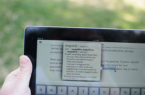 iPad keyboard tips