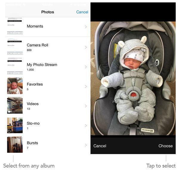 Selecting photo