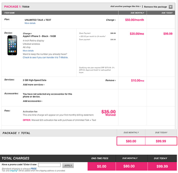 T-Mobile iPhone plans