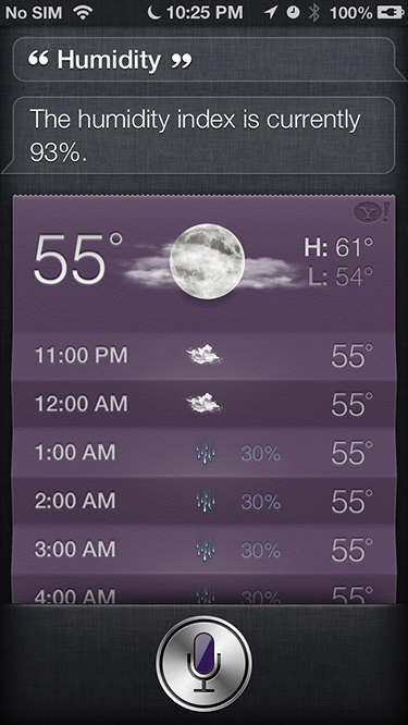 expanded weather Siri