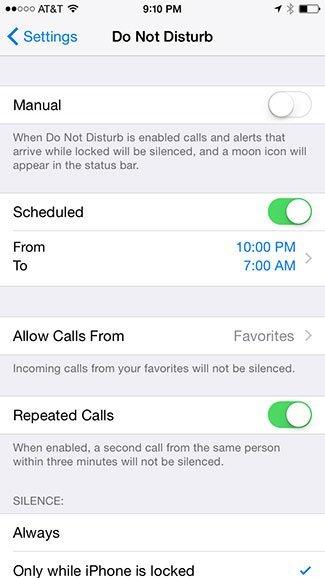 Schedule Do Not Disturb
