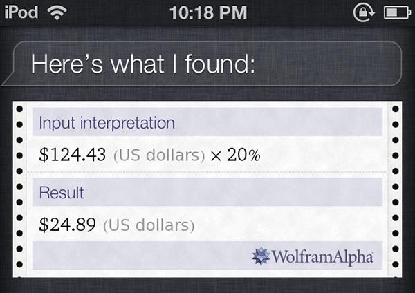 Siri calculations tips