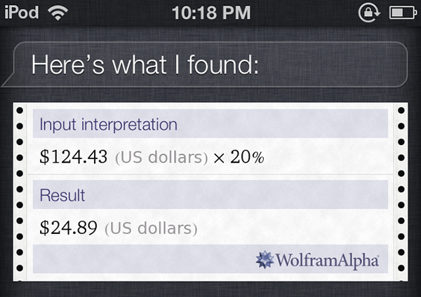 Siri calculations tips