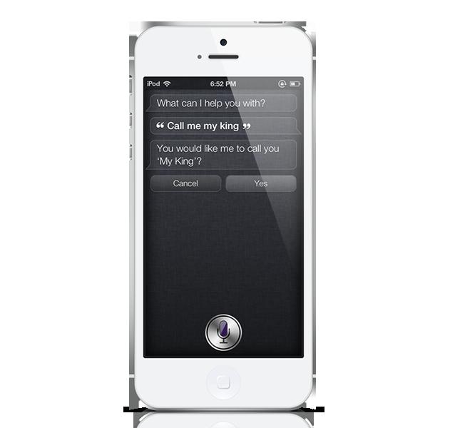 Siri call me king