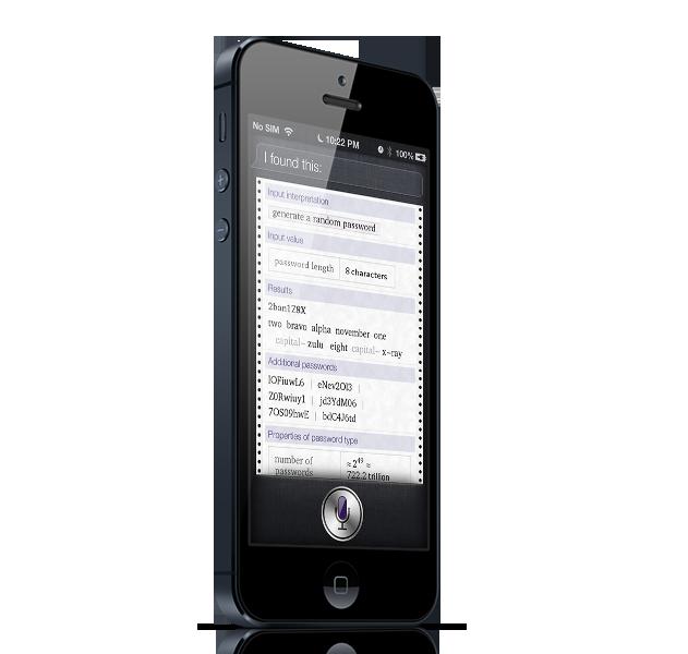 Siri create password