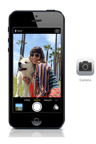 Camera iOS 7 black iPhone