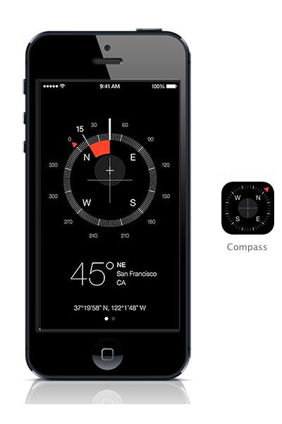 Compass iOS 7 black iPhone