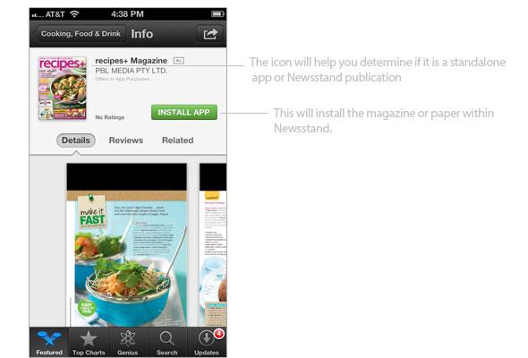 Download magazine to Newsstand