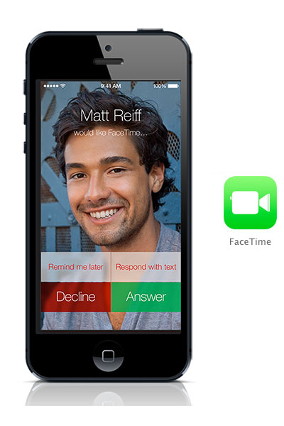 Facetime iOS 7 black iPhone