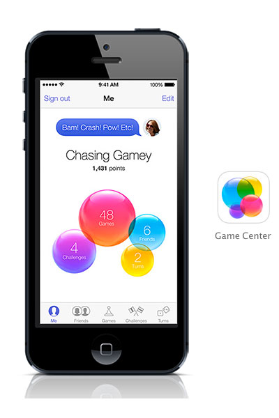 Gamecenter iOS 7 black iPhone