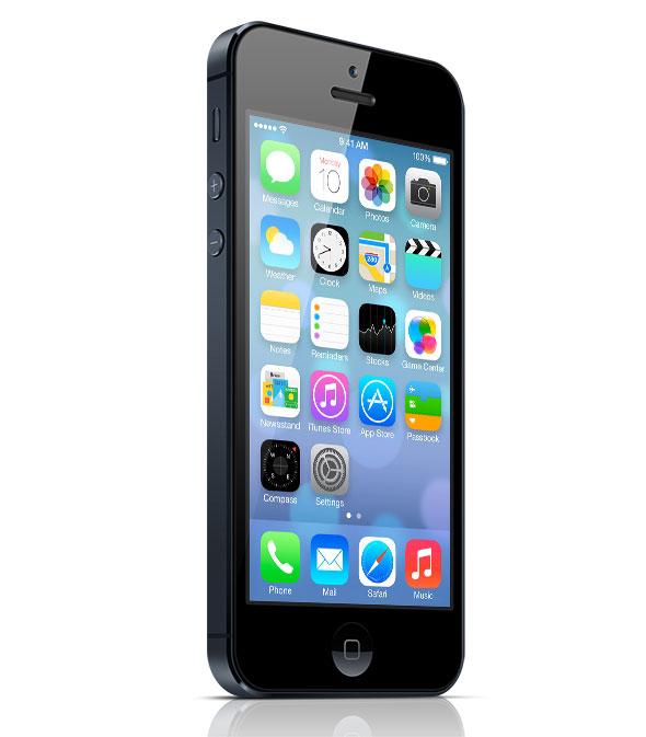 what iOS 7 looks like on black iPhone