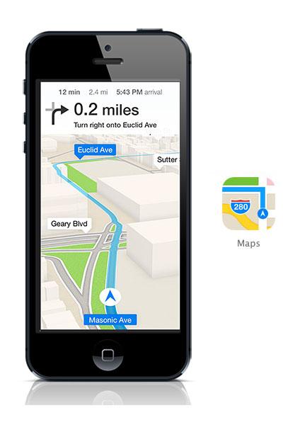 Maps iOS 7 black iPhone