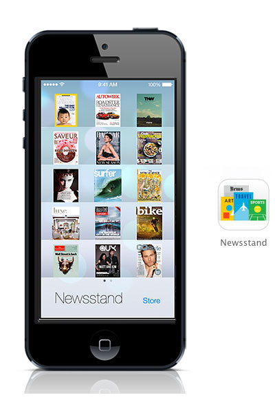 Newsstand iOS 7 black iphone
