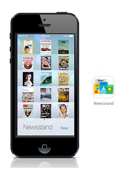 Newsstand iOS 7 black iphone