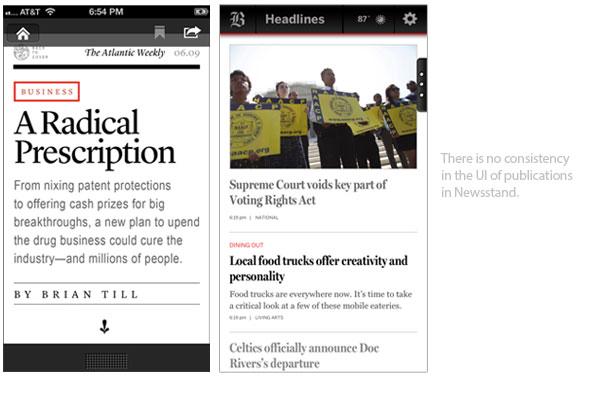 Newsstand UI