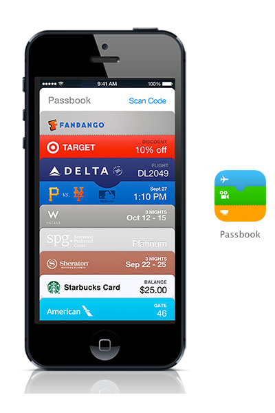 Passbook iOS 7 black iPhone