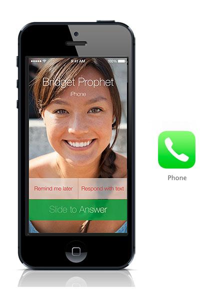 Phone app iOS 7 black iphone