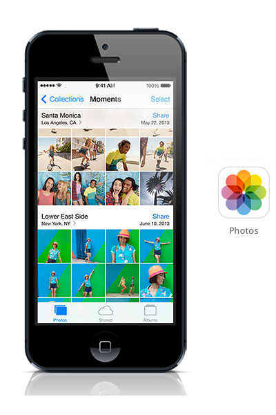 Photos iOS 7 black iPhone