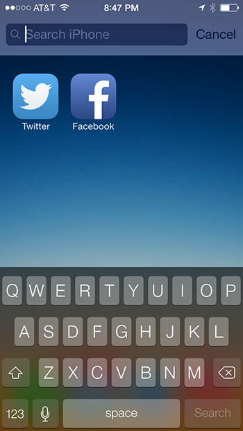 search iOS 7