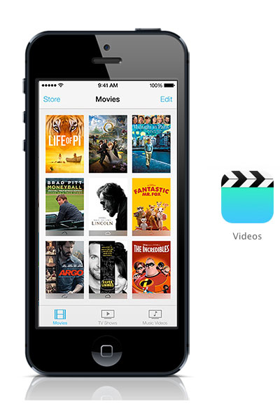 Videos iOS 7 black
