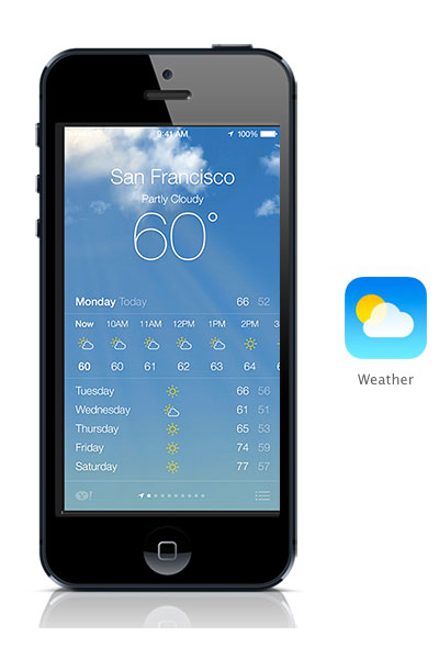 Weather iOS 7 black iPhone
