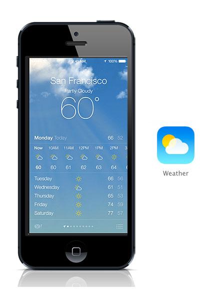 Weather iOS 7 black iPhone