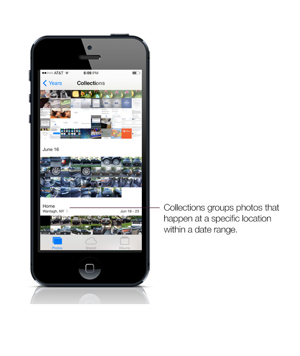 iOS 7 photo collections
