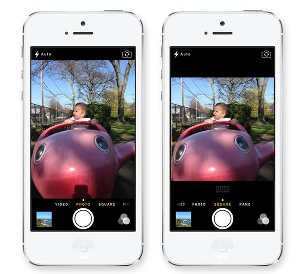 iOS 7 camera mode square