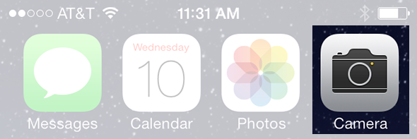 New camera icon iOS 7