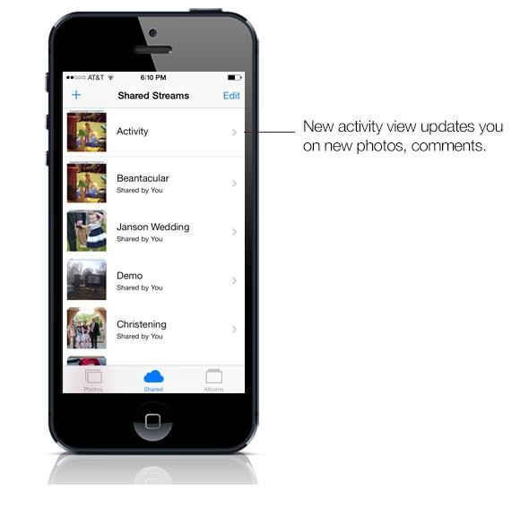 Photostream iOS 7 activity