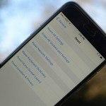 restore factory settings iPhone
