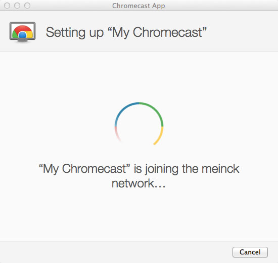 Connecting Chromecast to your network