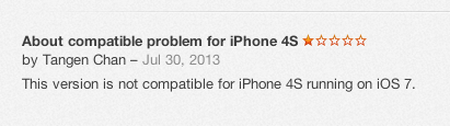 Preventing iOS 7 Beta Users From Leaving Bad Reviews in App Store