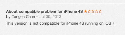 iOS 7 beta bad reviews