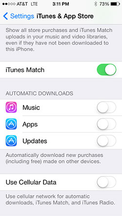 Turn off automatic app updates